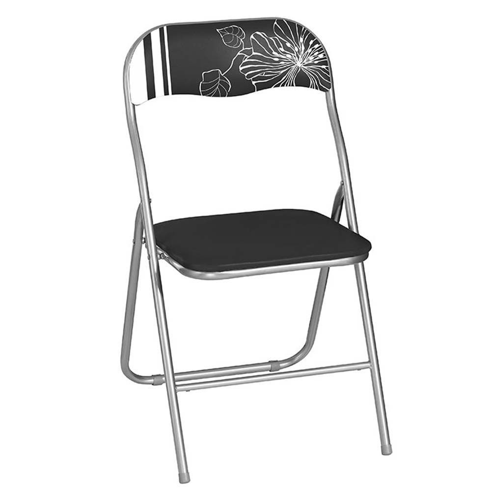 Krzesło składane Flower czarno-białe PATIO