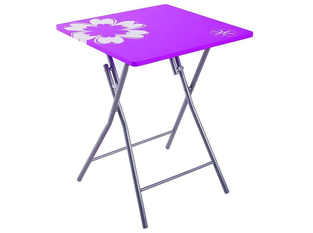 Stół składany Flower 60 x 60 cm fioletowy PATIO