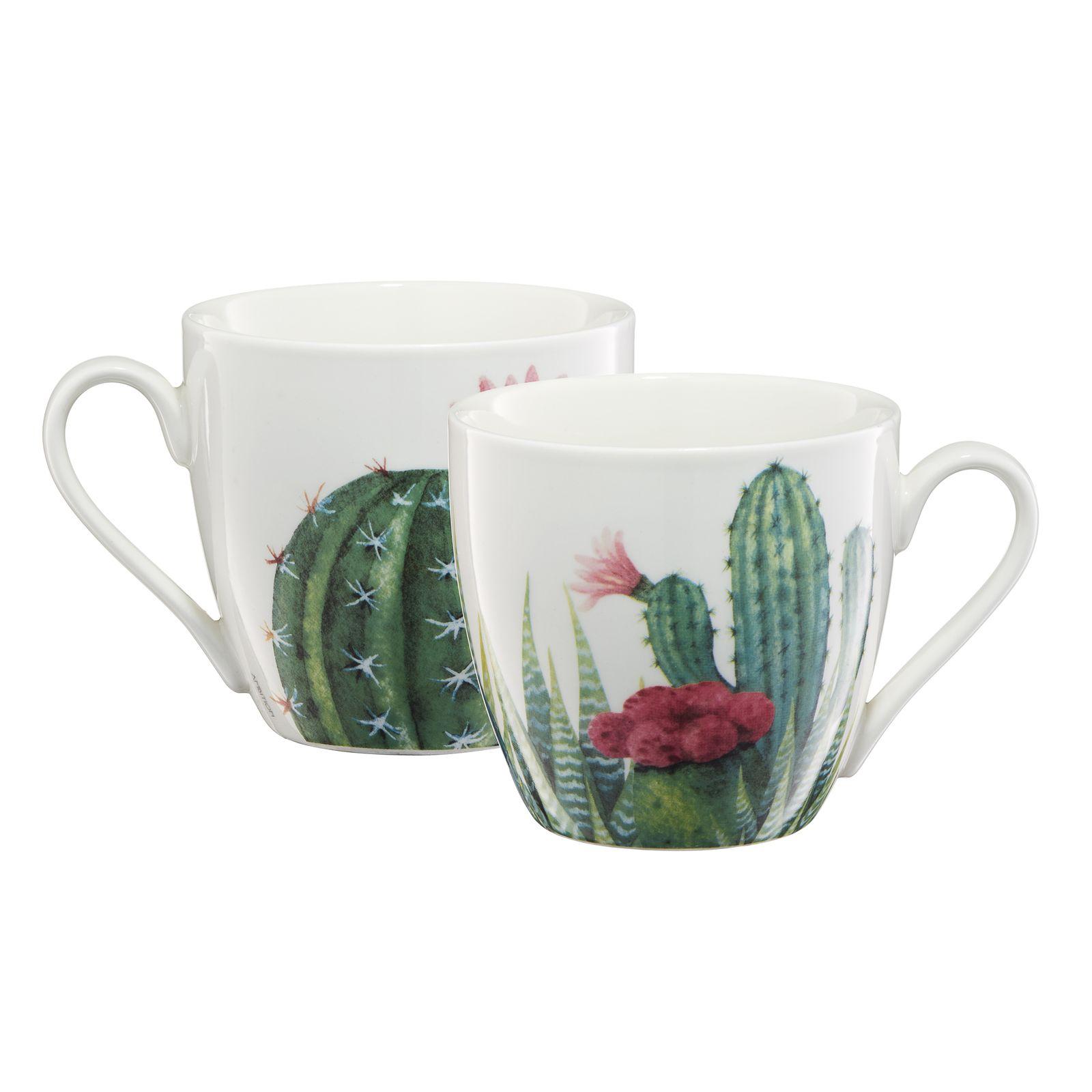 Kubek porcelanowy Cactus aloes 510 ml AMBITION