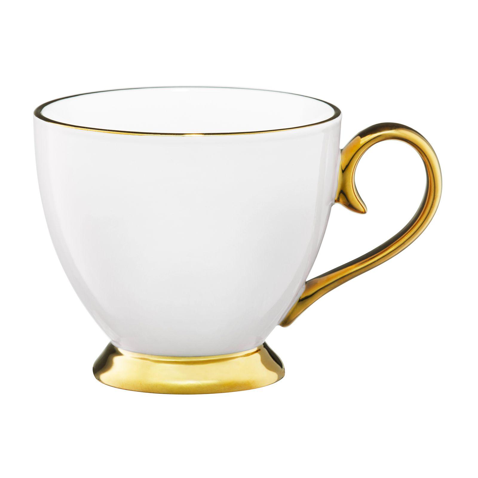 Kubek Royal 400 ml biało-złoty AMBITION
