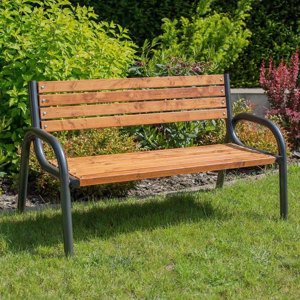 Panchina con schienale Park Plus 170 x 74 x 86 cm PATIO