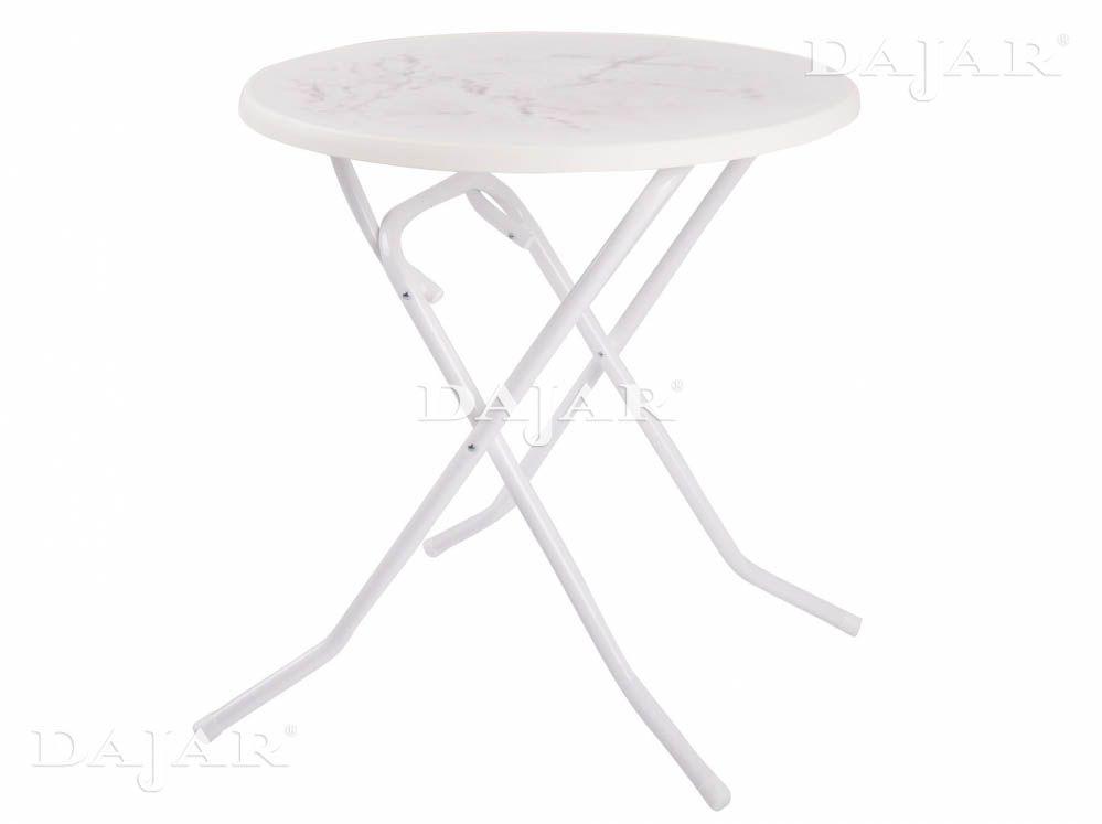 Masă cu balamale Dine & Relax 70 cm marble/alb PATIO