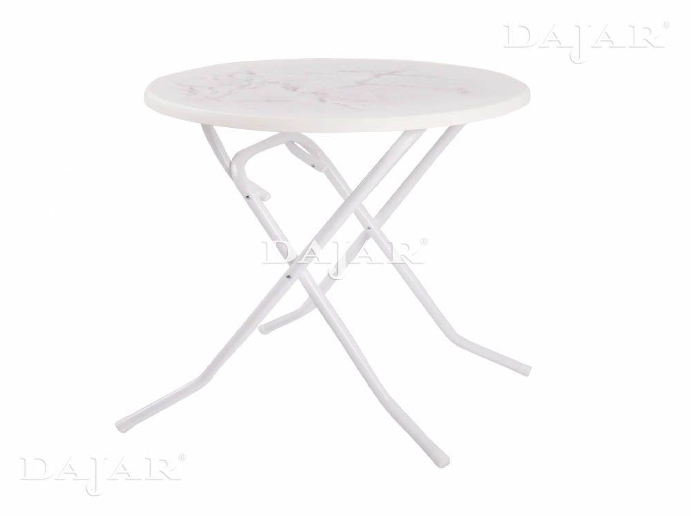 Masă cu balamale Dine & Relax 85 cm marble/alb PATIO