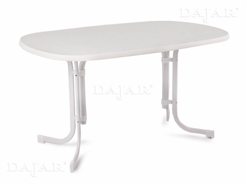 Masă Dine & Relax 132 x 90 cm marble / alb PATIO