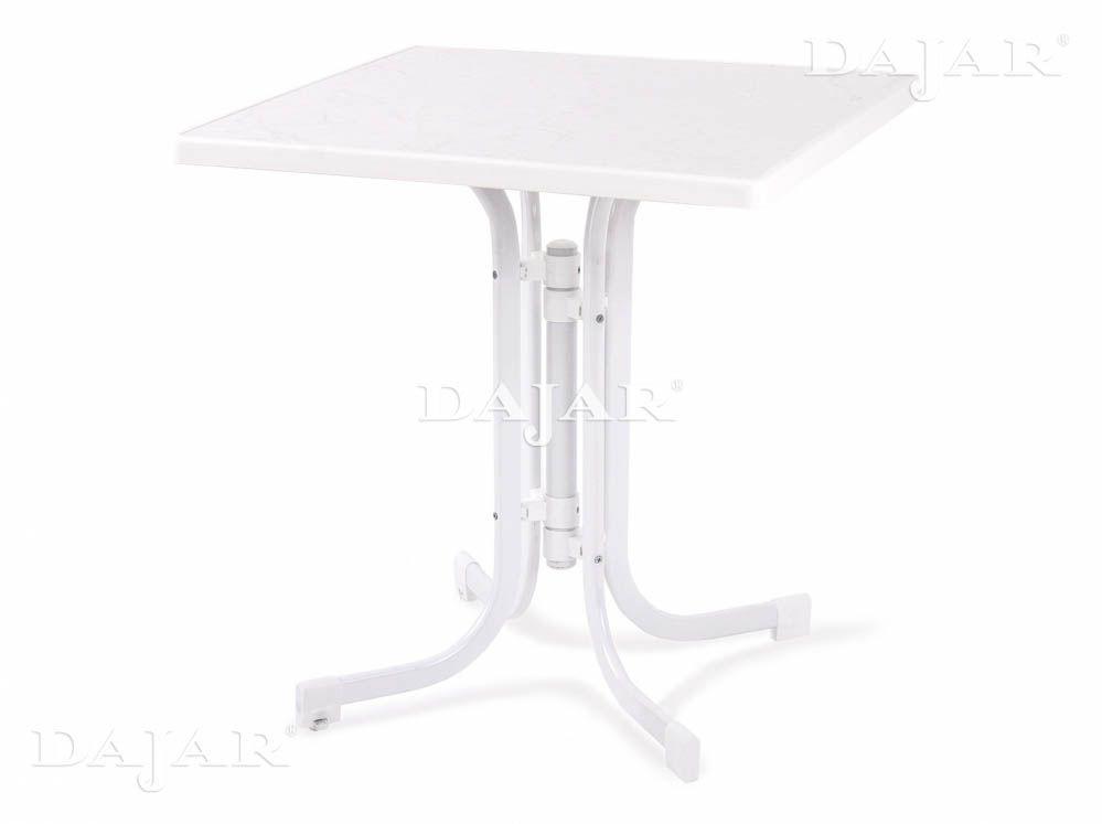 Stół Dine & Relax hiszpański 70 x 70 cm biały PATIO