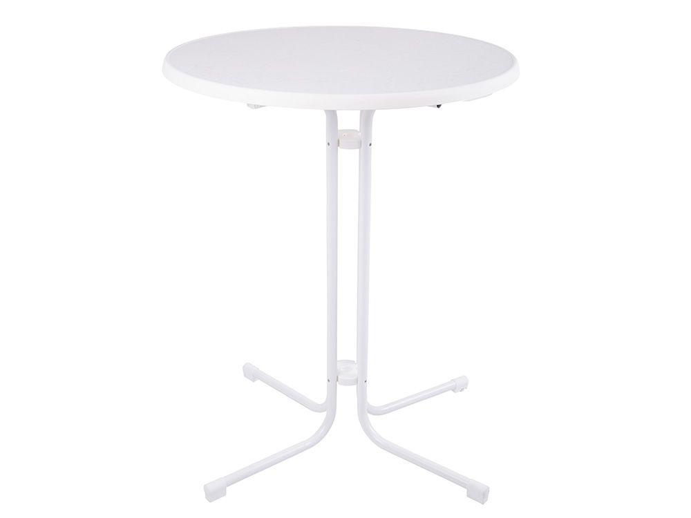 Masă bar Dine & Relax 85 cm marble/alb PATIO