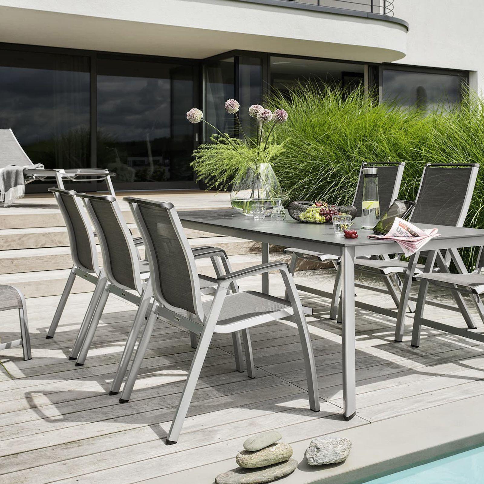 Krzesło ogrodowe Forma II srebrny KETTLER