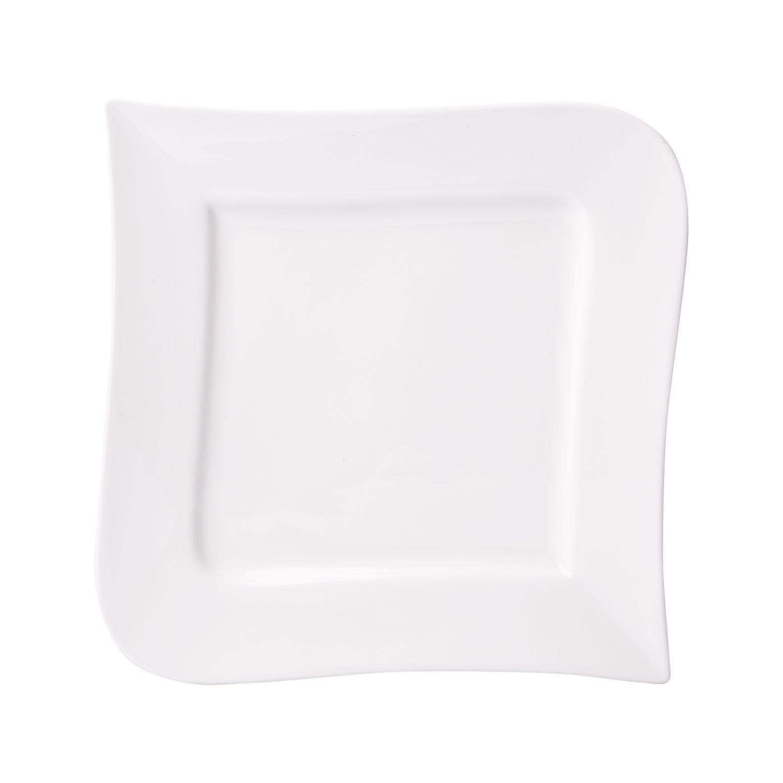 Talerz kwadrat Fala 28,5 x 28,5 cm AMBITION