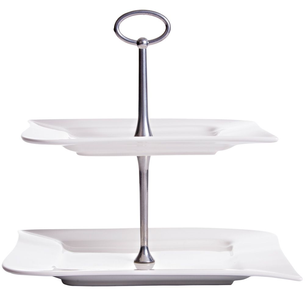 2 level cake stand Wave 24,5 x 24,5 cm AMBITION