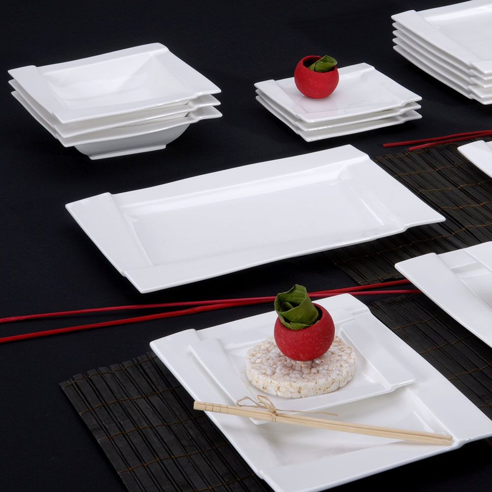 Rectangular platter serving dish Kubiko 30,5 x 21 cm AMBITION