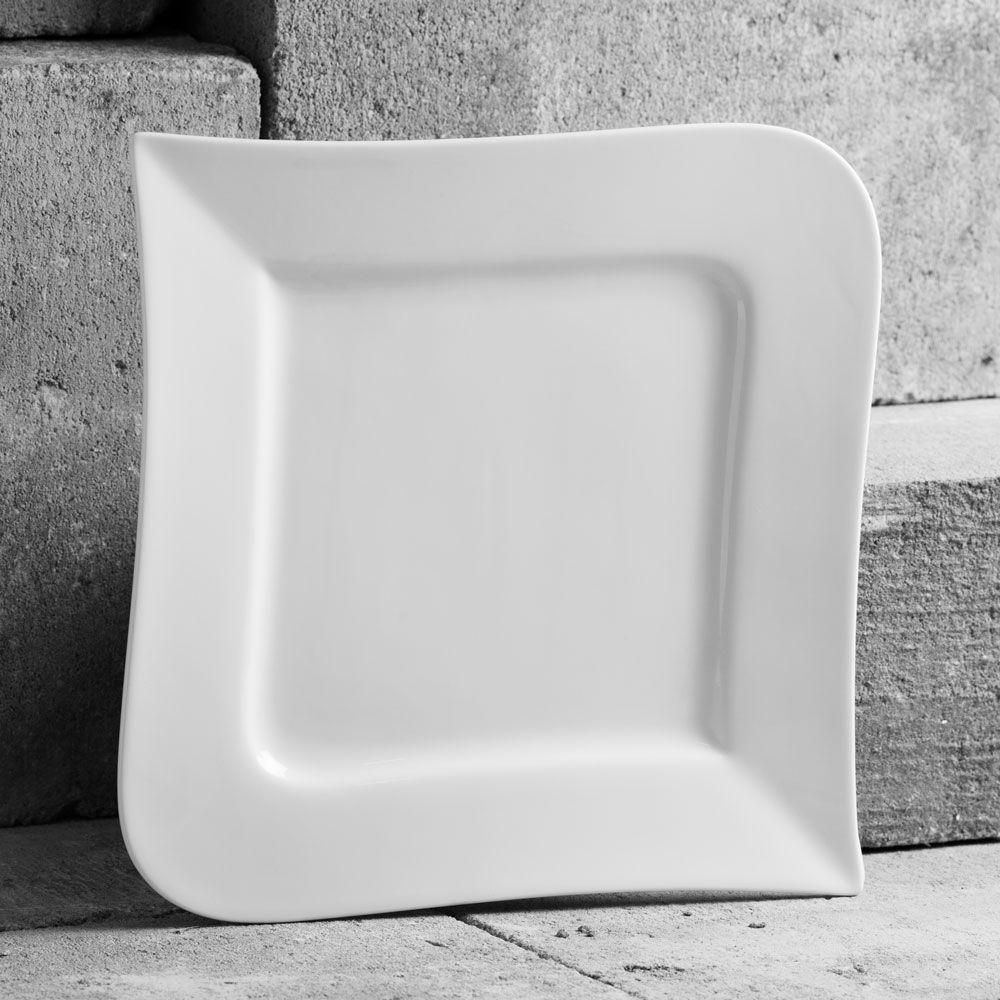 Square dinner plate 24.5cm Wave