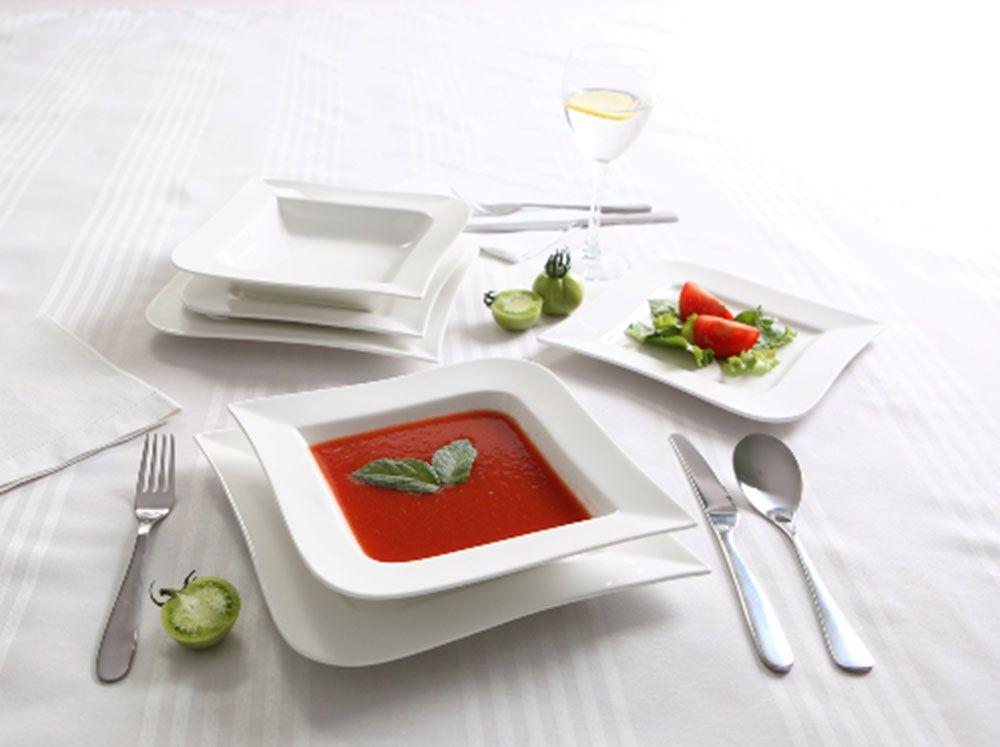 Talerz obiadowy Fala 24,5 x 24,5 cm AMBITION
