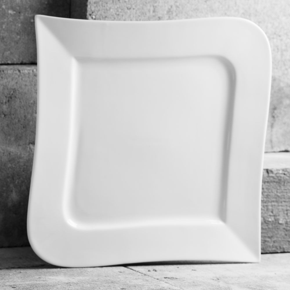 Square dinner plate 33cm Wave