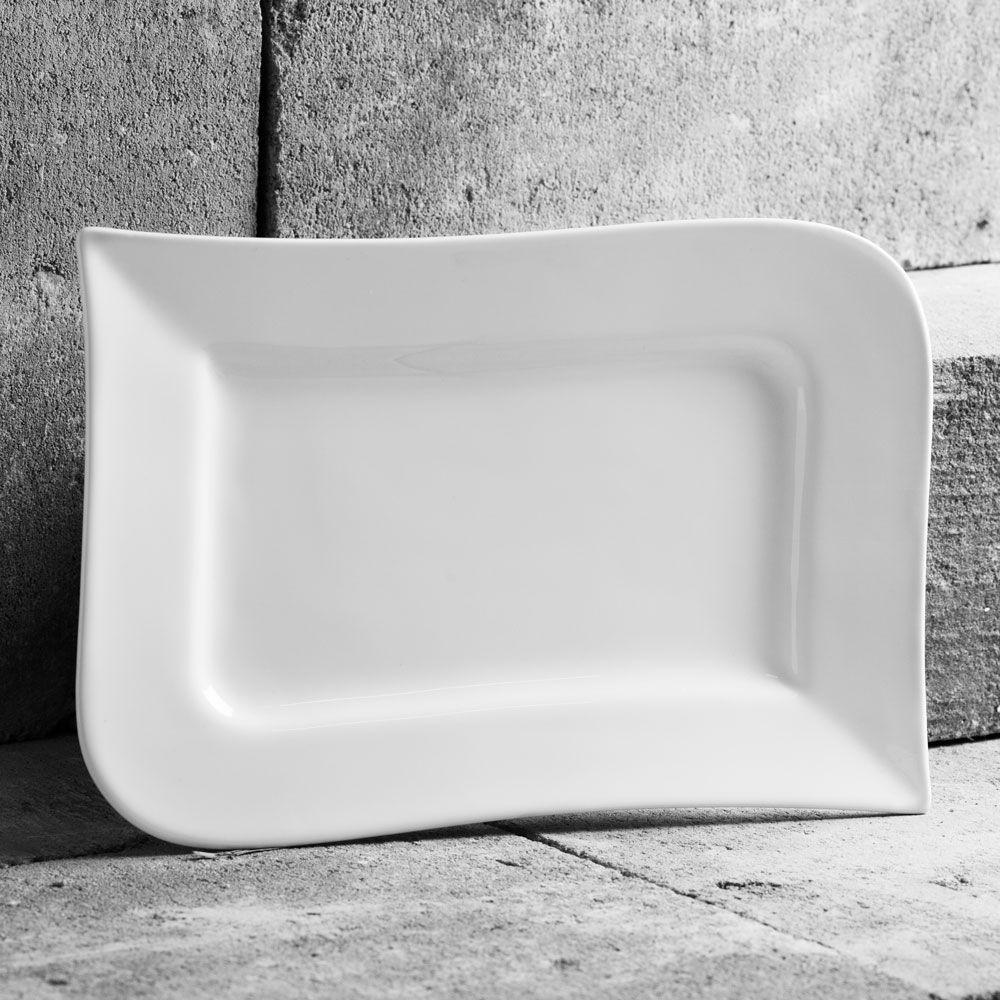 Rectangular dinner plate 17.5x 26cm Wave