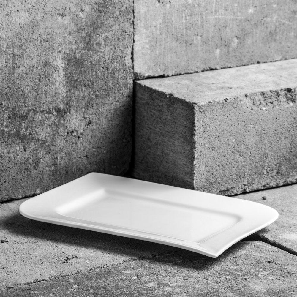 Rectangular dinner plate 36cm Wave