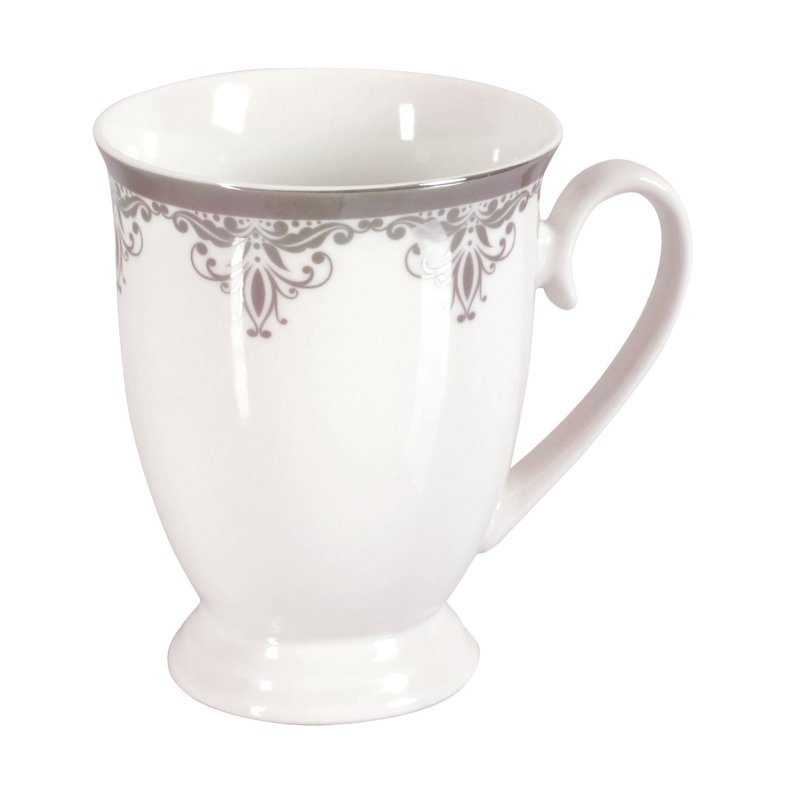 Porcelain mug Platinum DIANA 300ml pattern  (2)