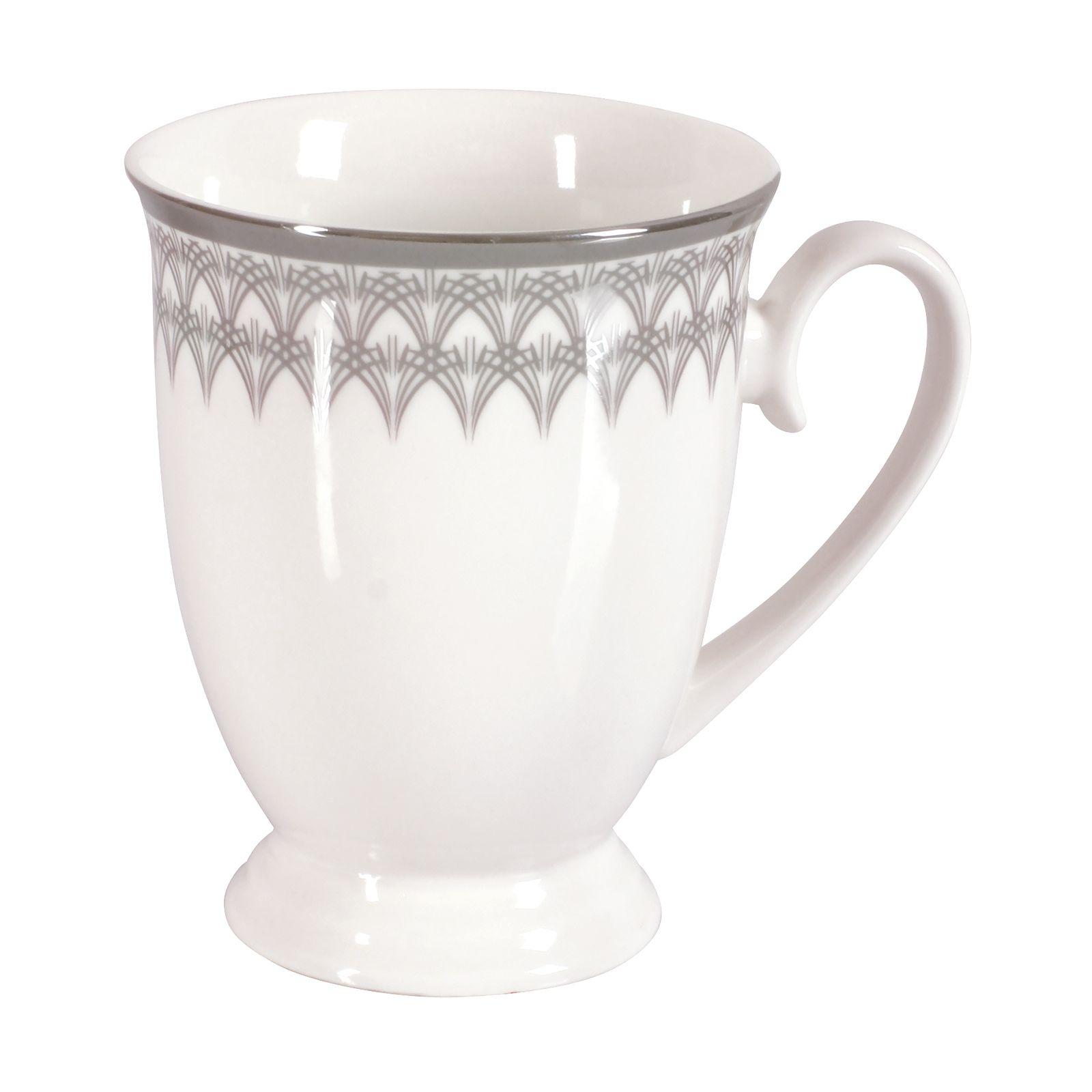 Porcelain mug Platinum DIANA 300ml pattern 1