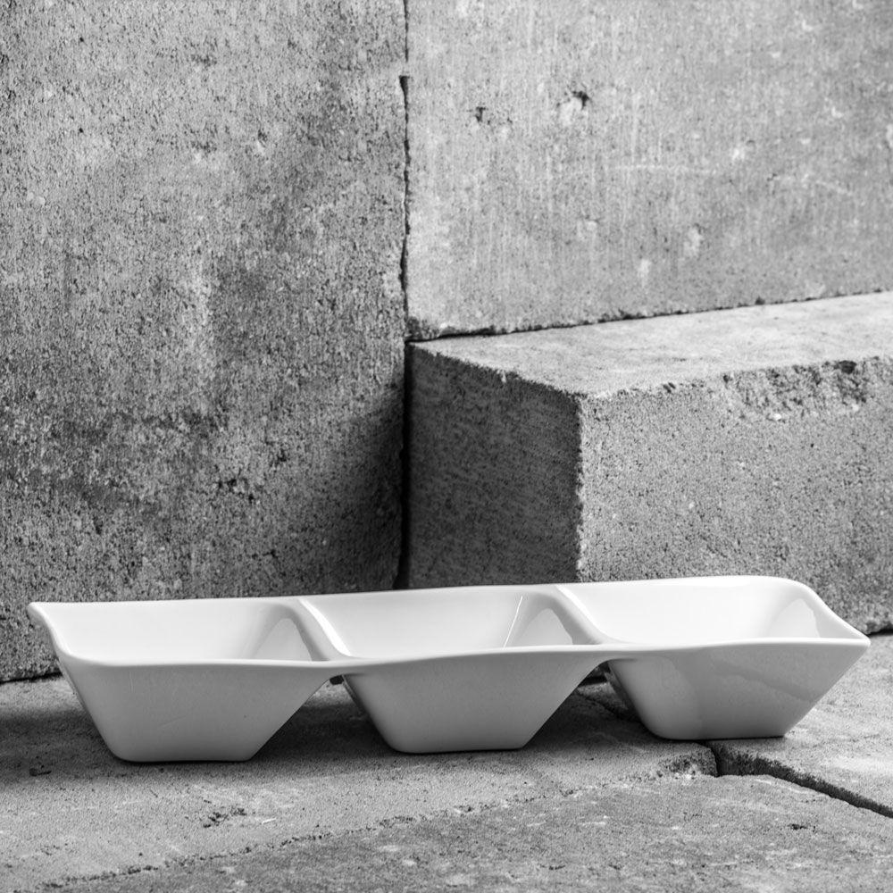 Salaterka potrójna Fala / Kubiko 31, 5 cm AMBITION