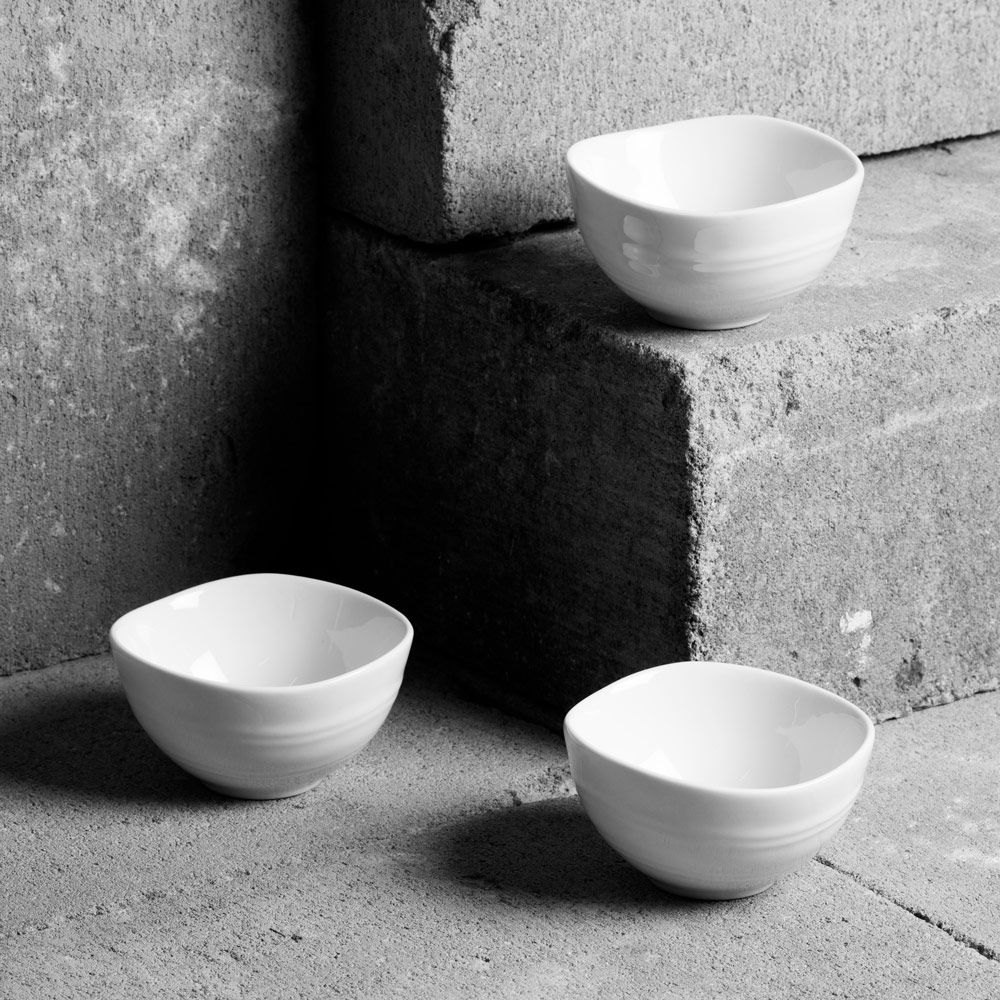 Set of 3 bowls RELIEF 8x4cm SALSA