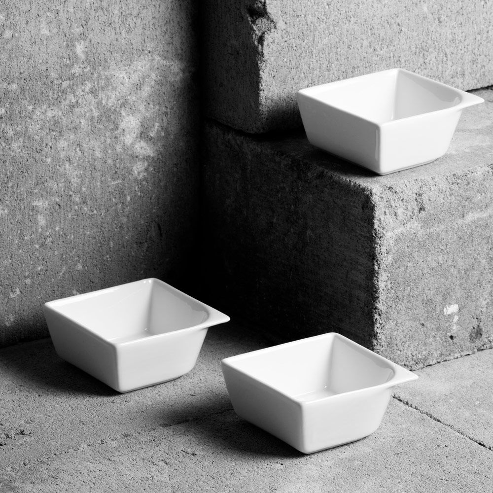 Set of 3 square bowls 8x8cm SALSA