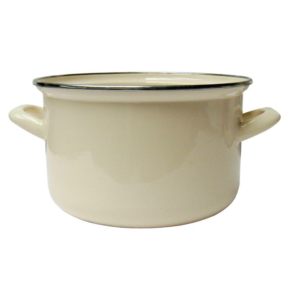 Smaltovaný hrnec Vigo Cream 16 cm DOMOTTI
