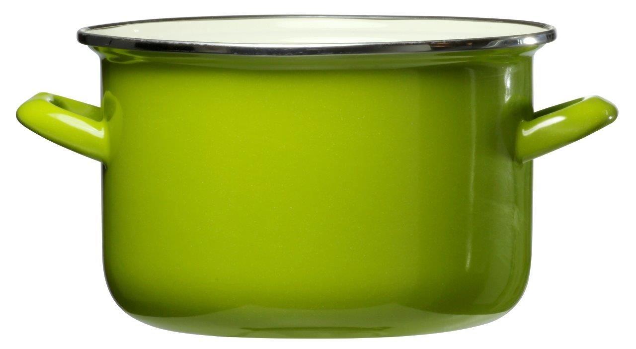 Smaltovaný hrnec Vigo Green 16 cm DOMOTTI