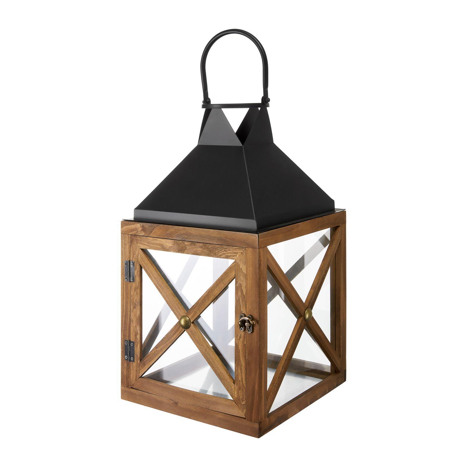 Lanterna Dark Wood 28,5 x 28,5 x 50 cm MY HOME