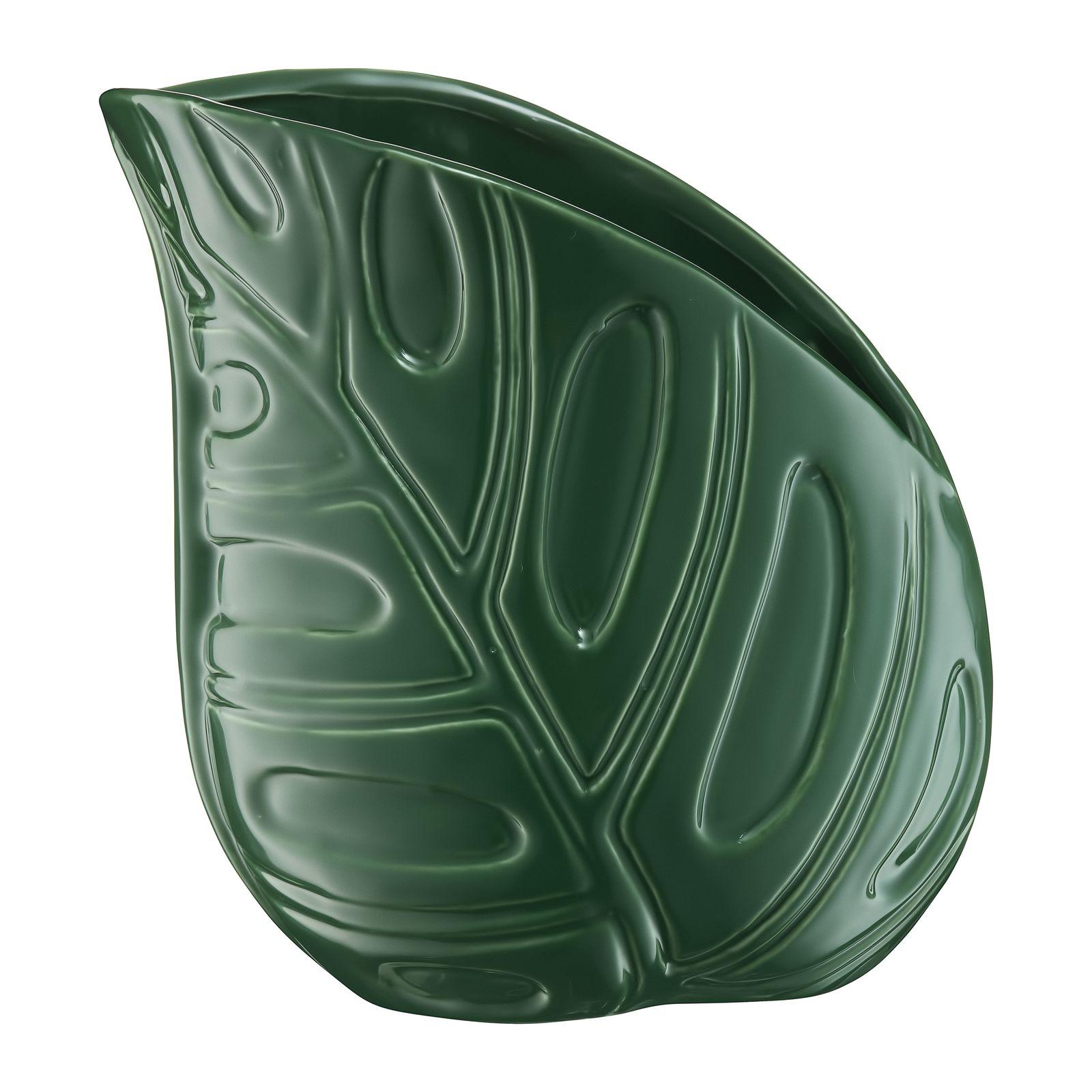 Vaso decorativo Leaf 15,5 x 10 x 16,5 cm MY HOME