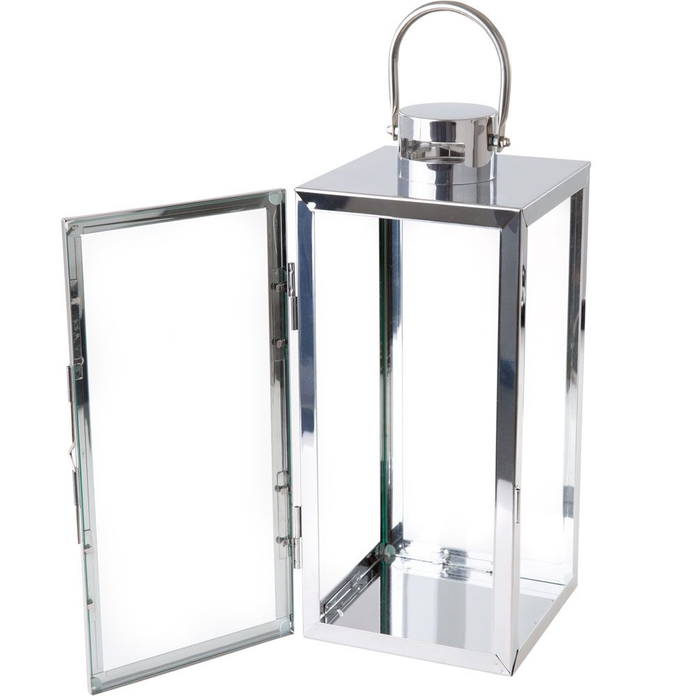 Lucerna Decor Silver 16,5 x 18,5 x 40 cm MY HOME