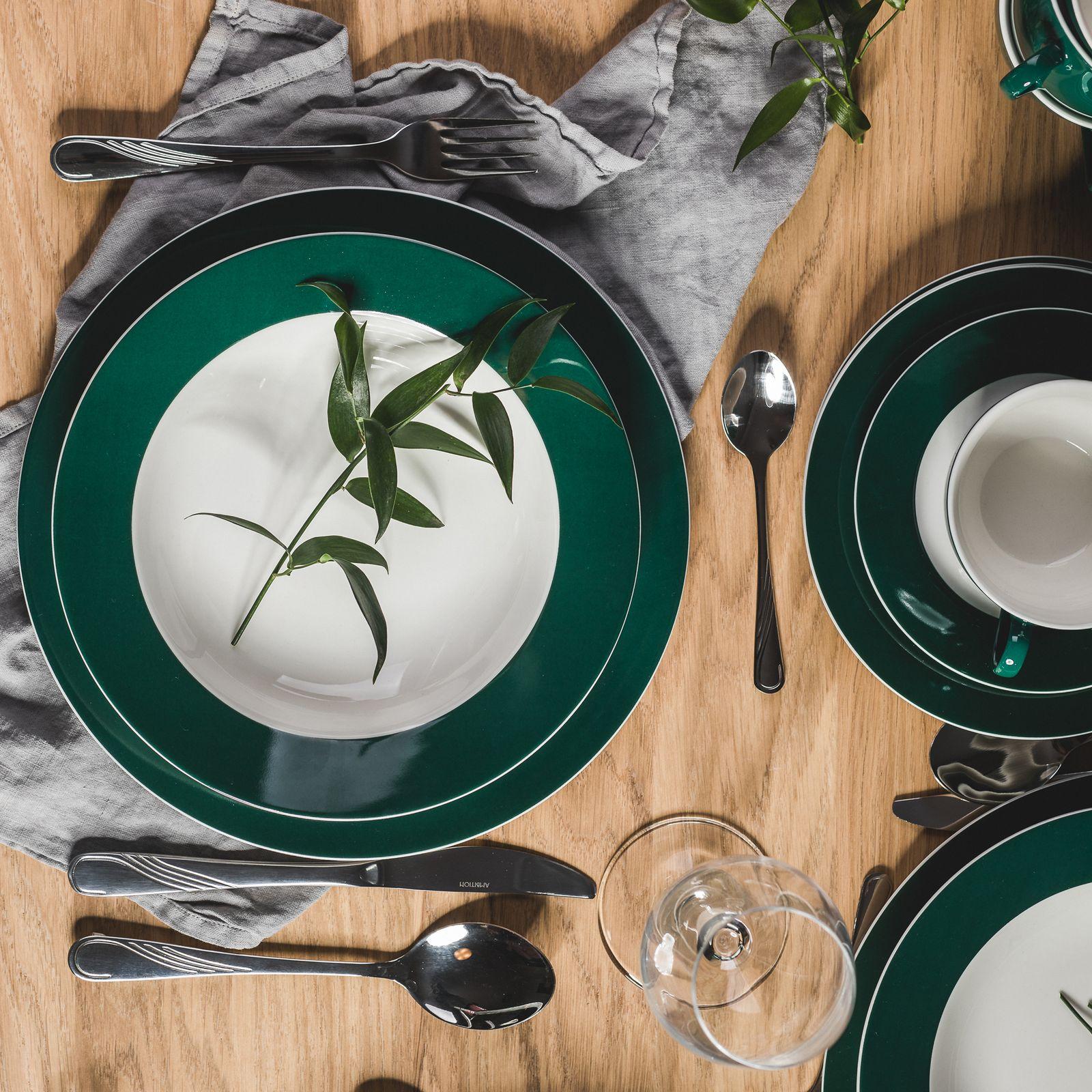 Serwis obiadowy Aura Green 60-elementowy AMBITION