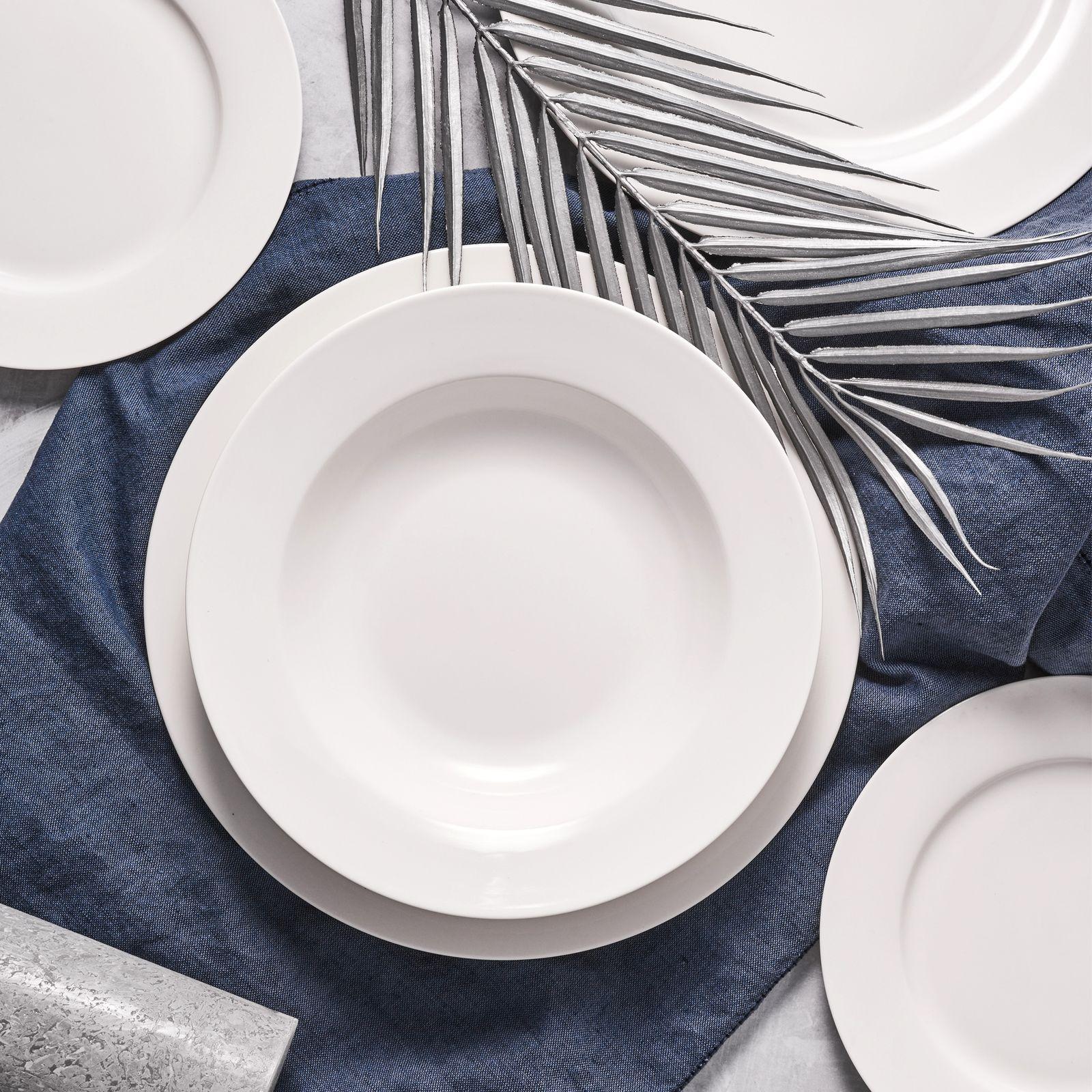 Serwis obiadowy Aura White 18-elementowy  AMBITION