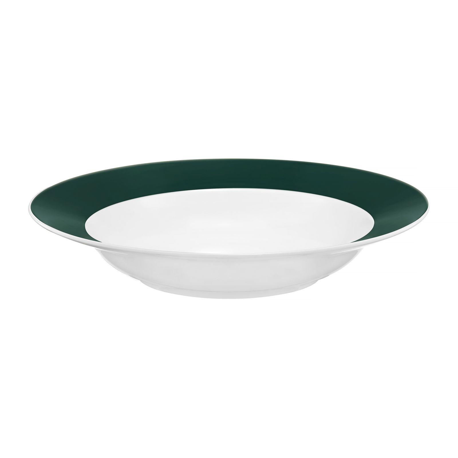 Assiette creuse Aura Green 23 cm AMBITION