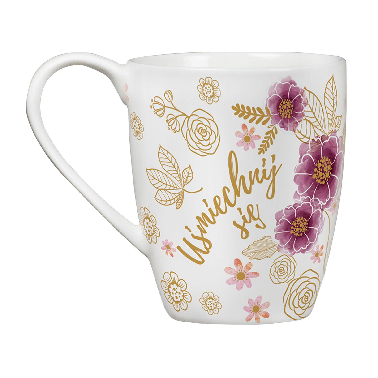 Porcelain mug Minnie Flowers Gold 400 ml DISNEY