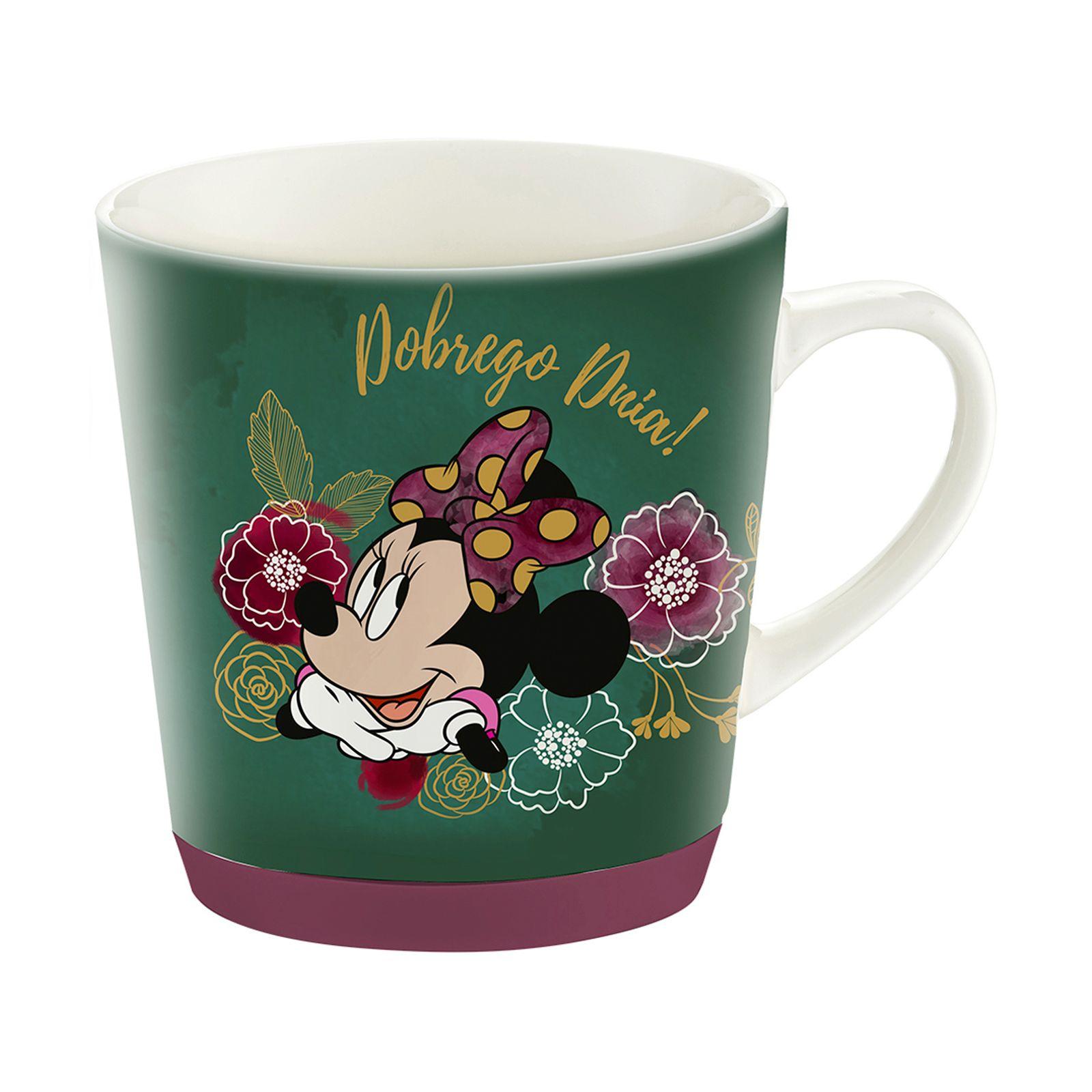 Porcelain mug with silicone Minnie Flowers Green 320 ml DISNEY