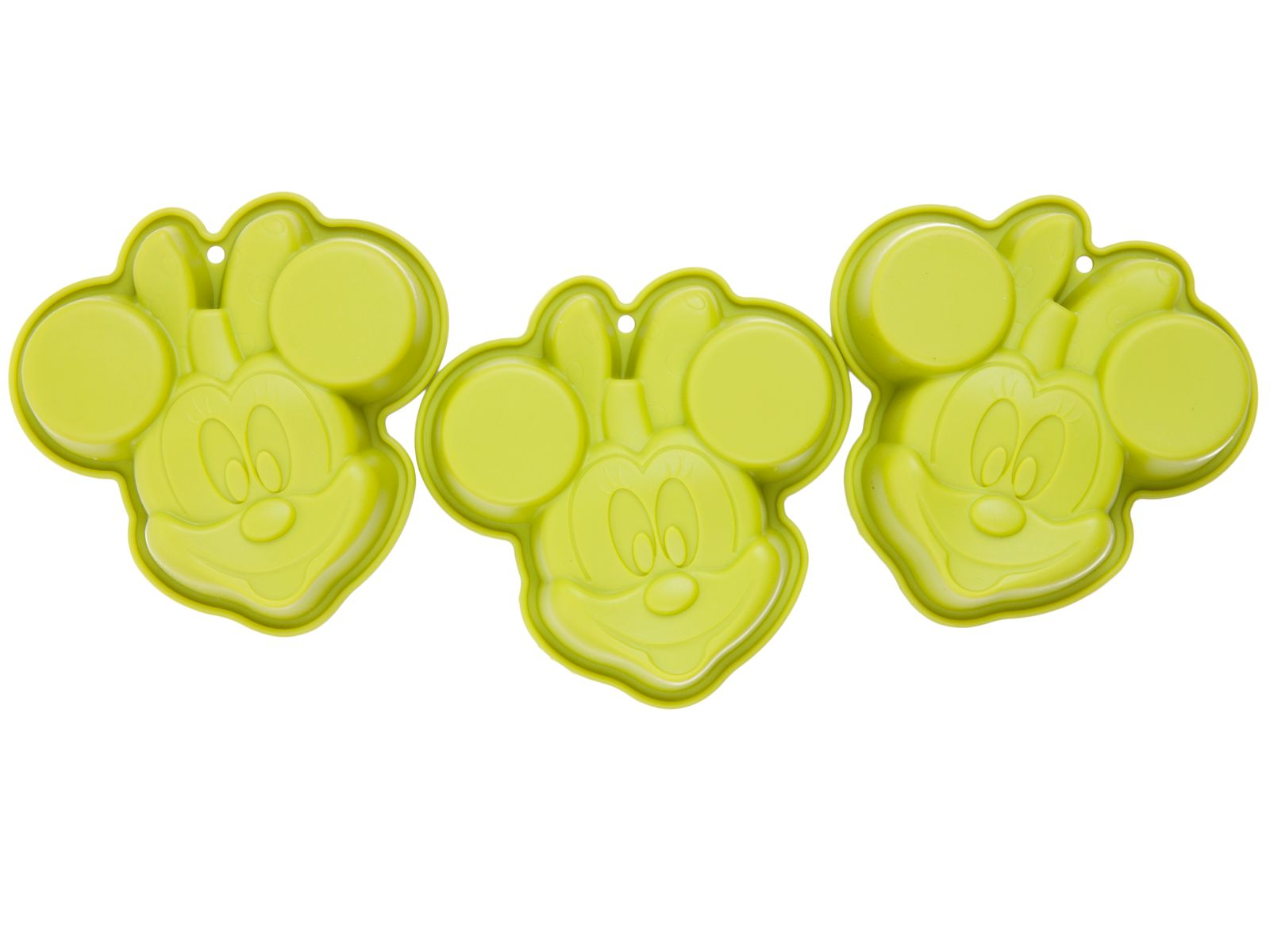 Forma silikonowa zielona Minnie 3 szt. DISNEY