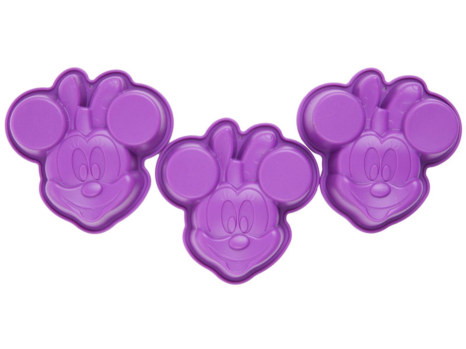 Forma silikonowa fioletowa Minnie 3 szt. DISNEY