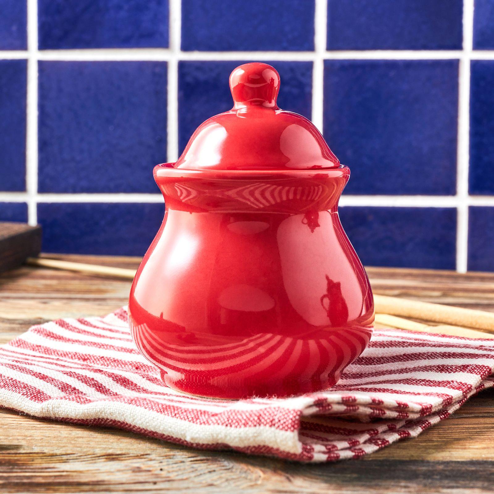 Sugar bowl Fusion Fresh vivid red