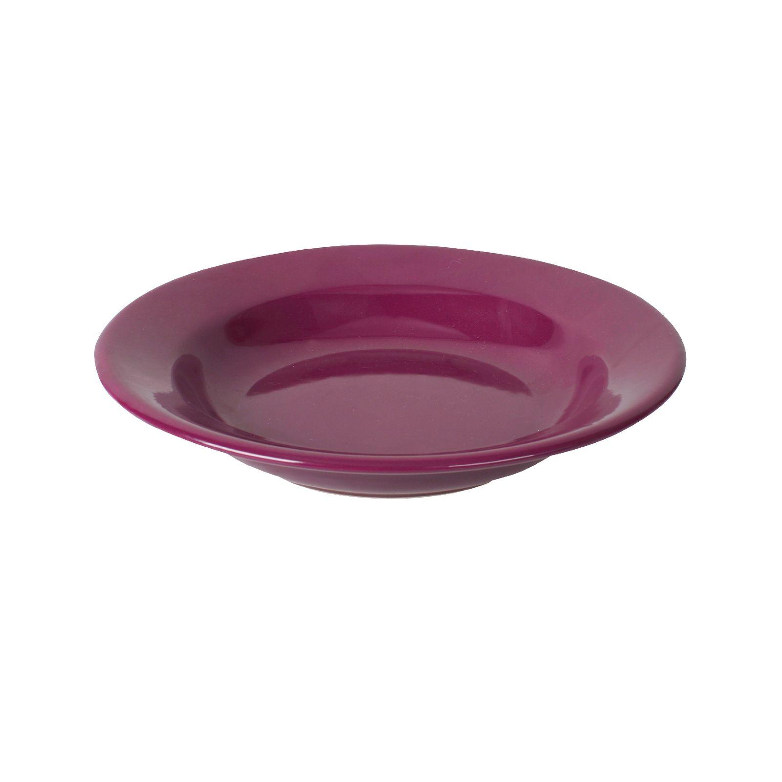 Soup plate 22cm Fusion Plum