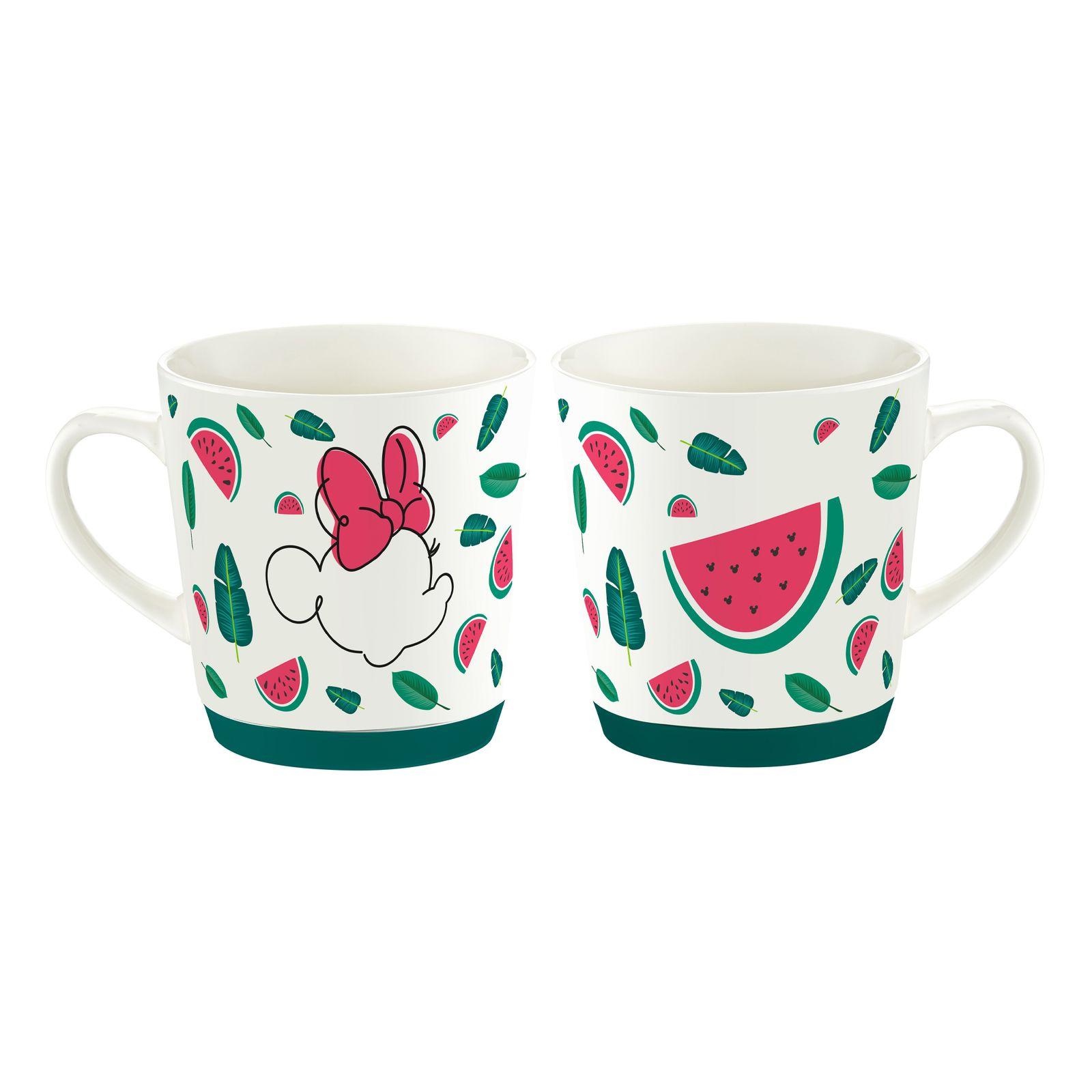 Tasse en porcelaine Minnie Tropical 32 cl Pastèque DISNEY / AMBITION