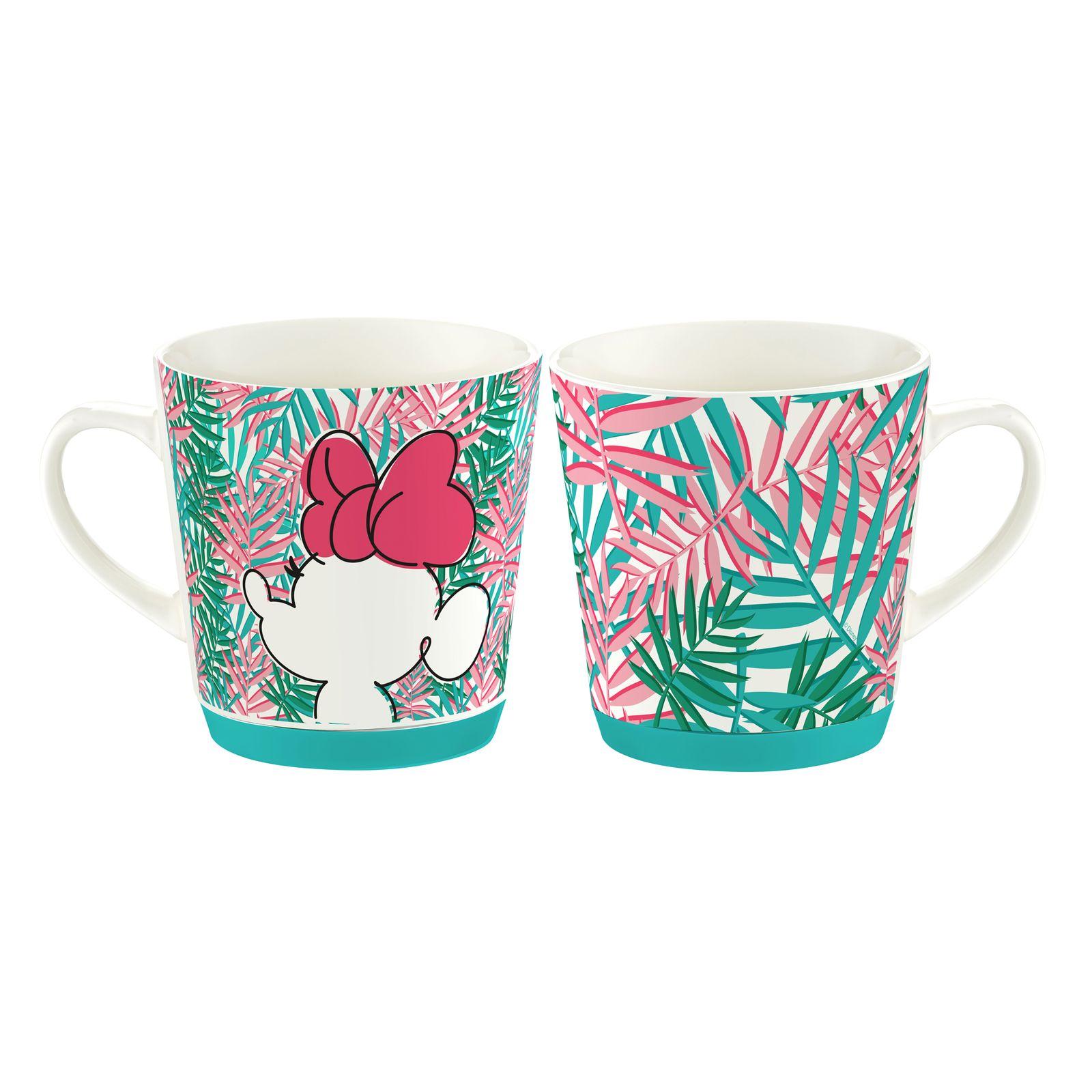 Tasse en porcelaine Minnie Tropical 32 cl Feuilles de palmier DISNEY / AMBITION