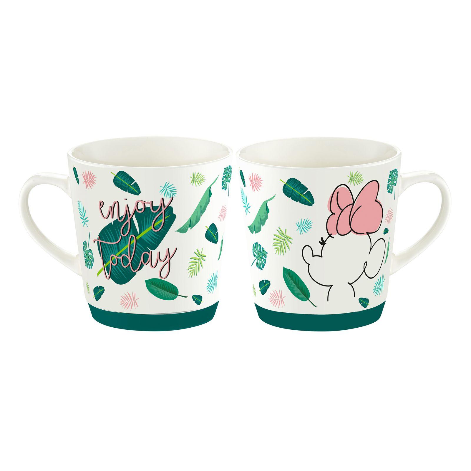 Tasse en porcelaine Minnie Tropical 32 cl Feuilles DISNEY / AMBITION