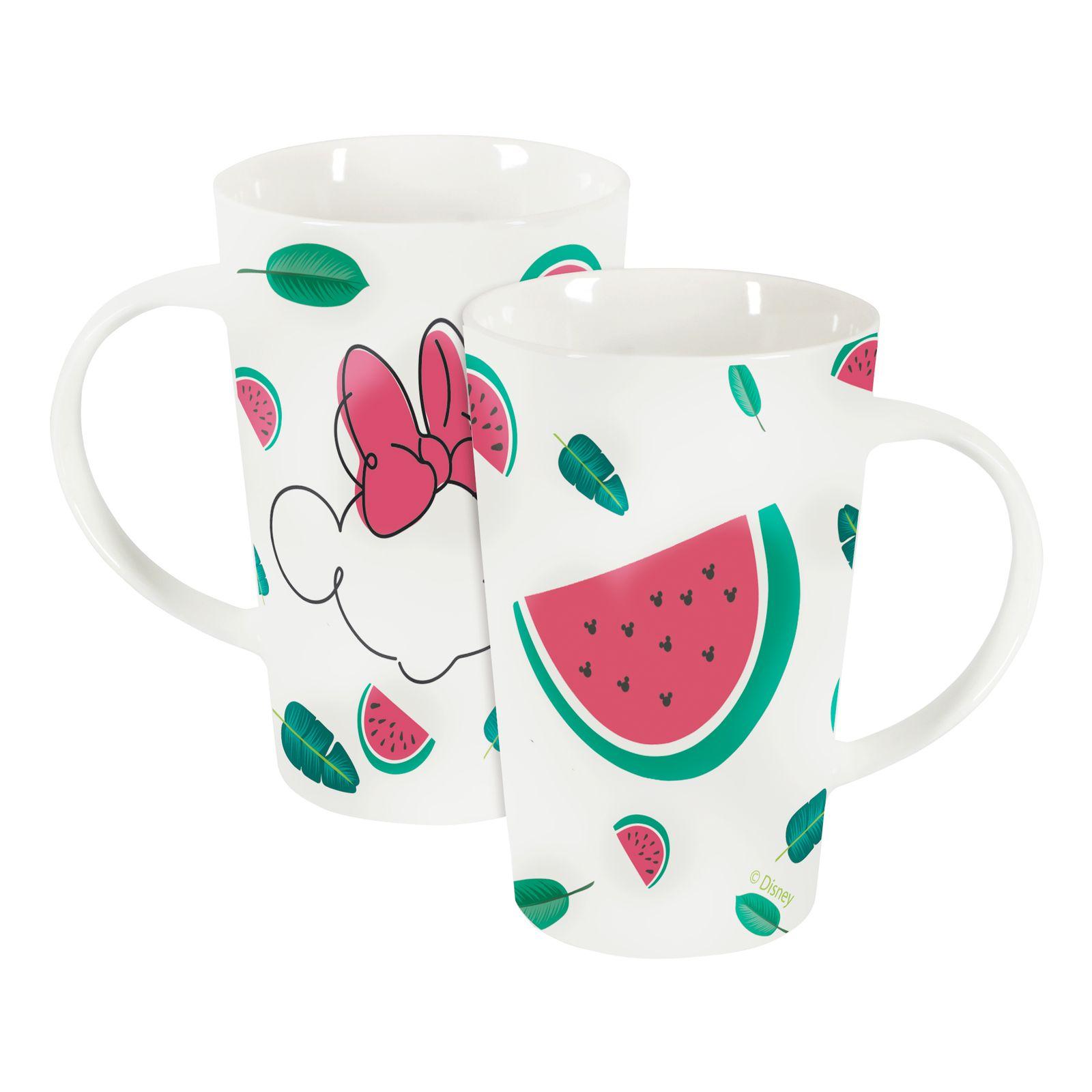 Tasse en porcelaine Minnie Tropical 43 cl Pastèque DISNEY / AMBITION