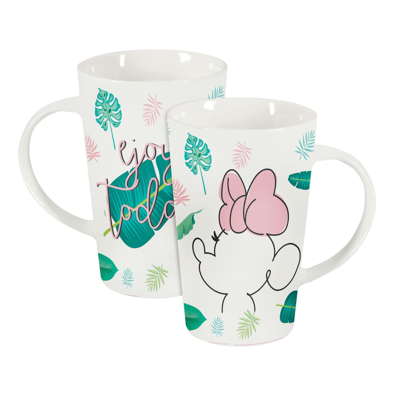 Tasse en porcelaine Minnie Tropical 43 cl Feuilles DISNEY / AMBITION