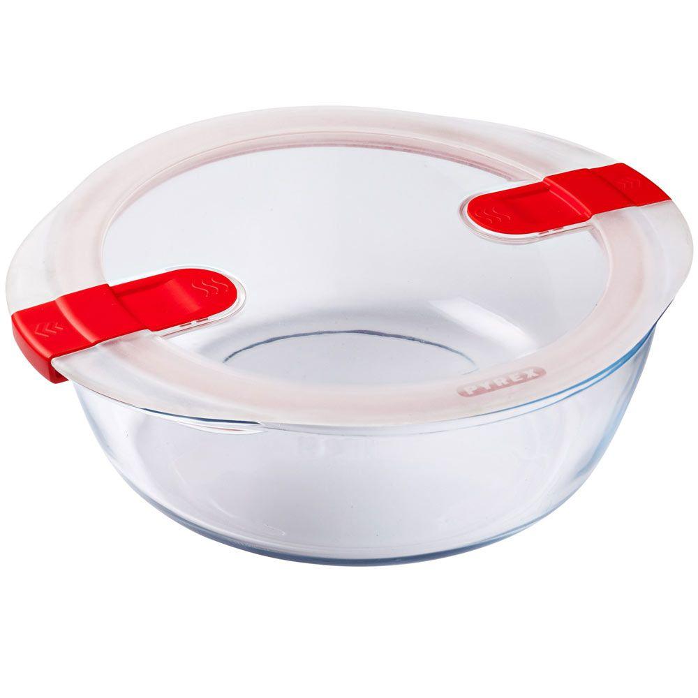 Pojemnik do żywności żaroodporny Cook & Heat z plastikową pokrywką 2,3 L PYREX