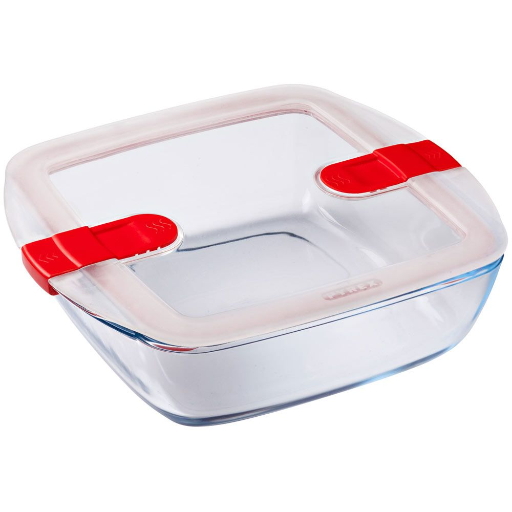 Pojemnik do żywności żaroodporny Cook & Heat z plastikową pokrywką 2,2 L PYREX