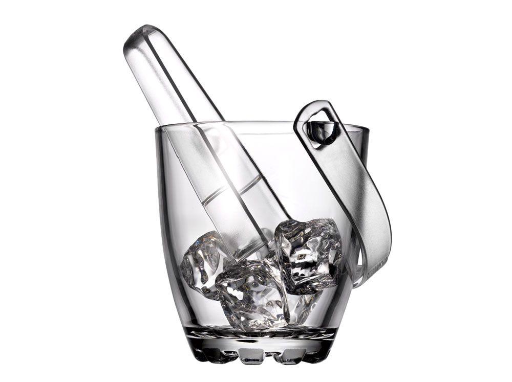 Ice bucket Sylvana with handle and pincers 800 ml PASABAHCE