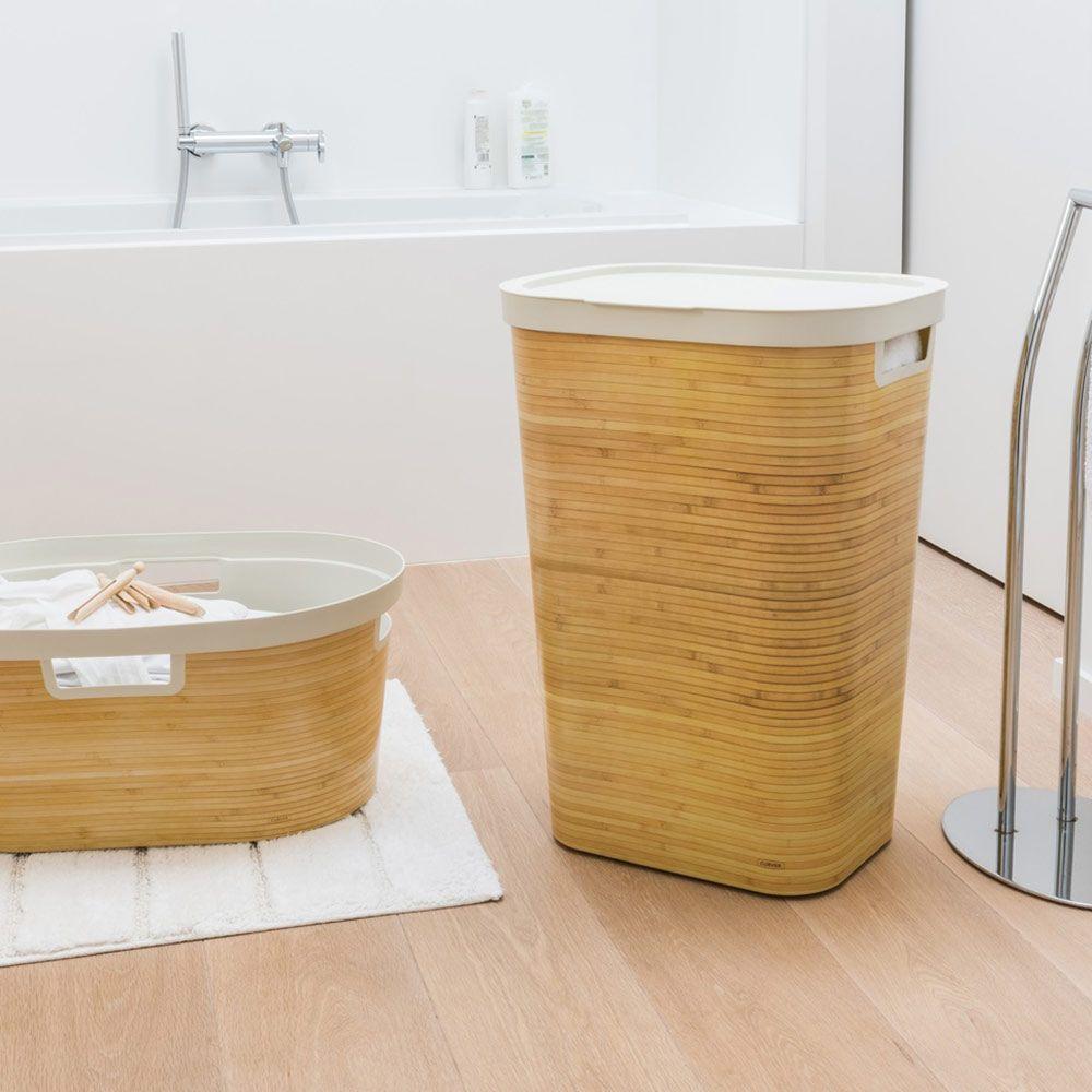 Kosz na bieliznę Infinity 60 L bambusowy CURVER