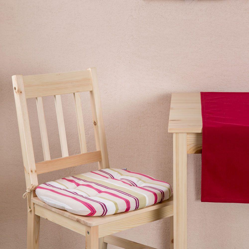 Pernă pentru scaun Red Stripes Chloe 39 x 40 x 4 cm C029-05SB PATIO