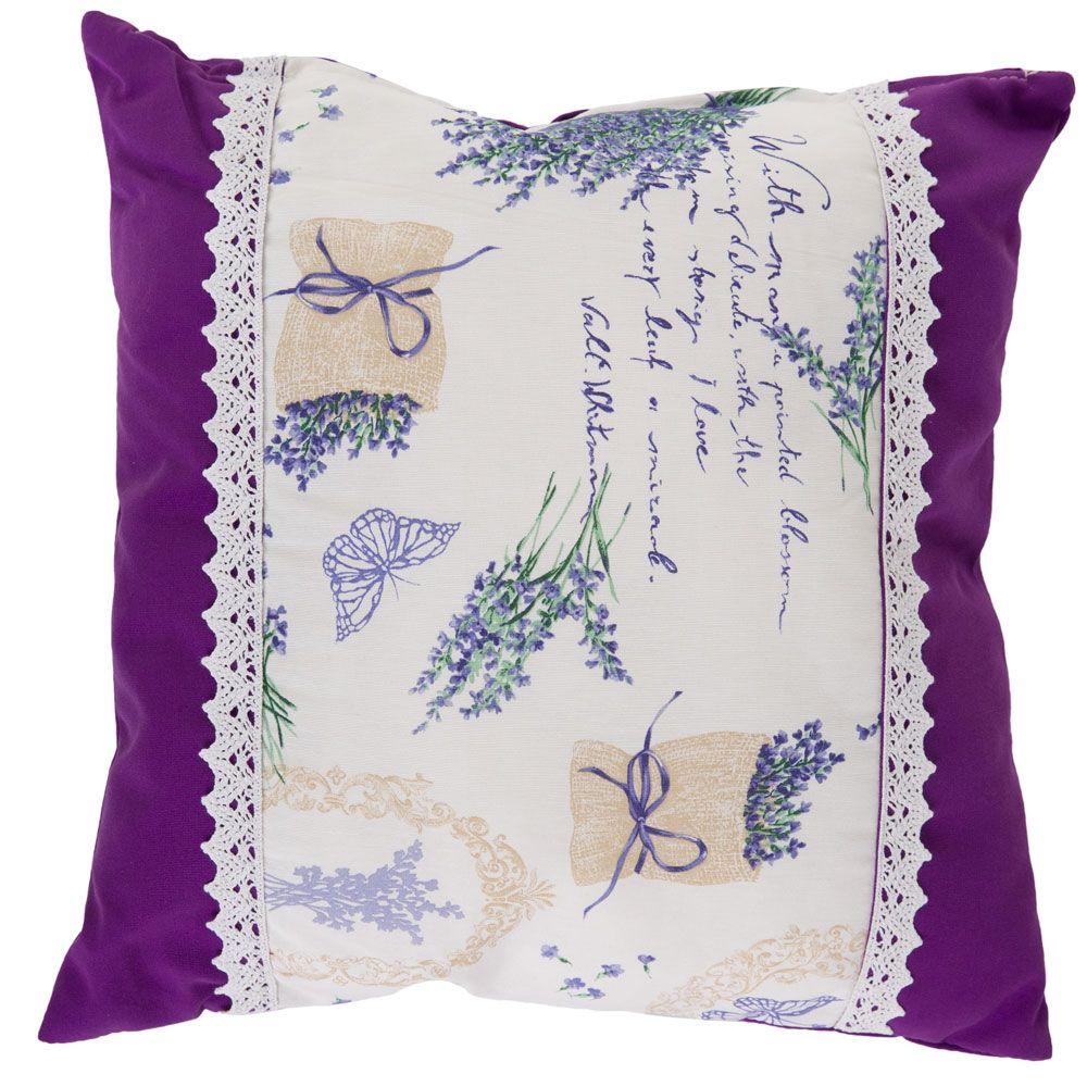 Pernă decorativa cu două fețe Lavender Eva 45 x 45 cm L093-08LB PATIO