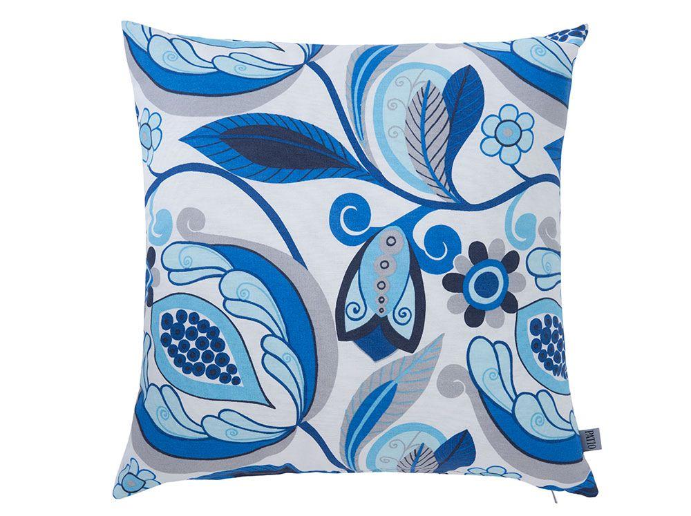Pernă decorativă Blue Flowers Bianca cu flori 45 x 45 cm A055-01LB PATIO